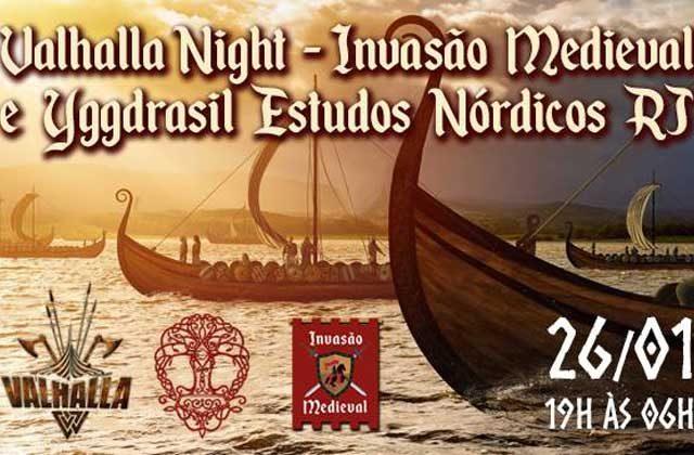 Valhalla Night - Invasão Medieval e Yggdrasil Estudos Nórdicos - RJ | encontro medieval com luau, piquenique e história dos vikings